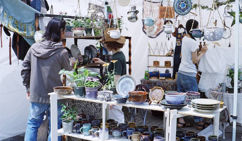 yoyogi park flea market
